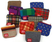 Recycled Wool or Cotton Zipper Pouch