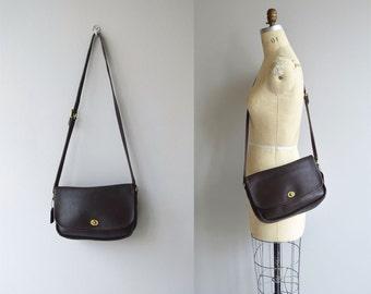Coach 'City' bag | vintage Coach purse | large mahogany Coach shoulder bag