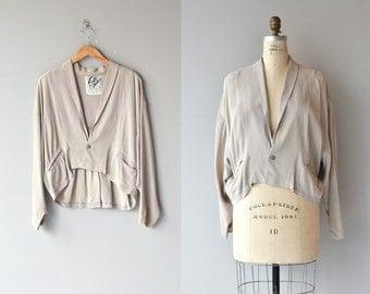 Newhouse jacket | vintage 80s silk slouchy jacket | rayon 80s draped jacket