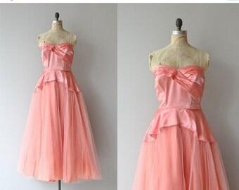 25% OFF SALE Billet-doux dress   vintage 1940s formal dress • 1950s tulle party dress