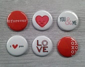 Very Merry Flair Badges : Love You Valentine Set