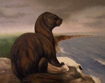 Original Oil Painting-Sea Otter-16x20
