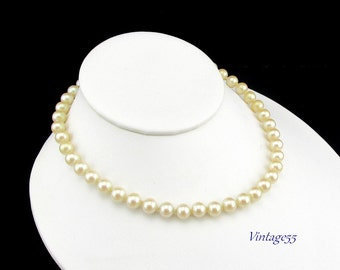 Necklace Glass Pearl Rhinestone Clasp