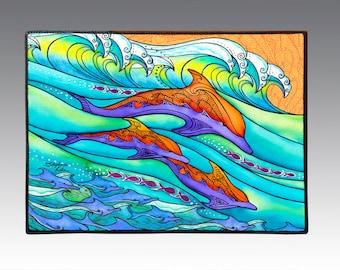 """Dolphin Love 18"""" x 24"""" Door Mat, Floor Mat, Home Decor"""