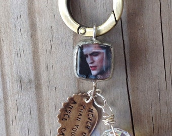 Guardian Angel car charm//personalized quote//angel wing//Edward Cullen//Swarovski crystal//drive safe//new driver