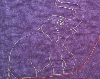 Purple Baby Blanket -Baby Receiving Blanket -Flannel Baby Blanket -Embroidered Baby Blanket -Stroller Blanket -Swaddle Blanket -Crib Blanket