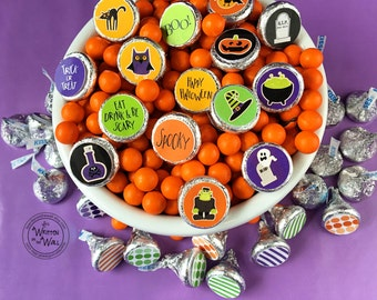 Halloween Matching Game / Hershey Kisses / Halloween Party favors / Halloween Party Game / Classroom Party Game / Office Treats