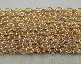 BULK - Soft Gold Cable Chain - 32 feet - #CH32550