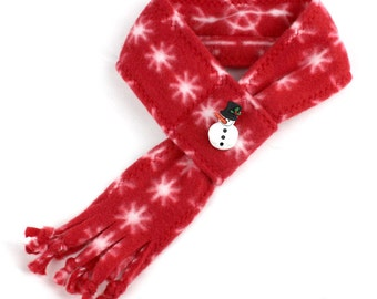 Fleece scarves for dogs, Classic Snowman