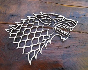 House Stark Dire Wolf sigil.  Window art