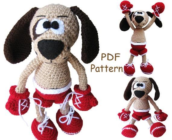 Amigurumi Boxer Dog : Crochet toy Amigurumi Pattern Boxer puppy.