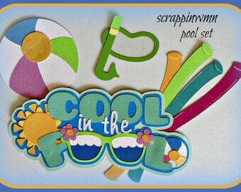 Handmade Premade Summer Scrapbook Paper Piecing Pool Set