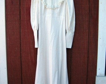 Misty - vintage prairie dress M L