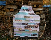 Patchwork Reversible Bib Apron  reserved for Giang