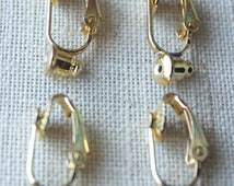 Change pierced to CLIP Gold Clip on earring convertor, Clip on Earring converter, no tools necessary, clip earring adaptor