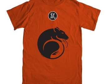 Year of the Rat T-shirt  - Burnt Orange Color (sizes Medium, Large and X-Large