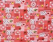 Japanese Fabric - Strawberry Rabbits - Fat Quarter (ho160628)