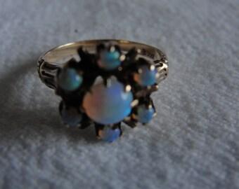 vintage 10k rose gold opal ring size 3.25