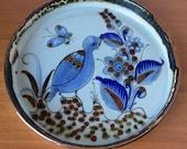 Vintage Ceramic Ken Edwards El Palomar Large Round Tray