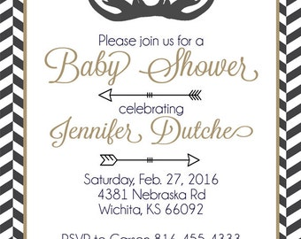 Deer Baby Shower Invitation, Hunting Baby Shower Invitations, Deer Baby Shower INVITE, Rustic Baby Shower Invite, You Choose The Colors*