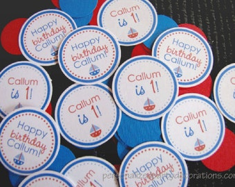 Nautical Birthday Decorations, Boy Birthday Decorations, Birthday Decorations, Nautical Birthday TABLE CONFETTI, You Choose The Colors
