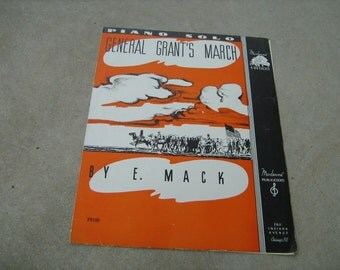 1936   vintage sheet music (  General Grant's March  )