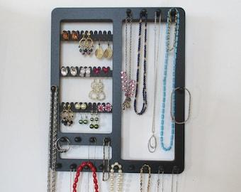 JEWELRY RACK, Earring Holder, Jewelry Organizer, 19 Pegs, , Wall Mounted  Jewelry