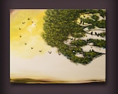 large art canvas painting child art original painting wall art canvas home decor abstract painting tree painting landscape painting 22 x 28
