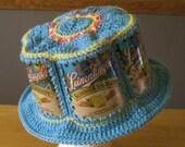 Crocheted Beer Can Hat - Leinenkugels Summer Shandy