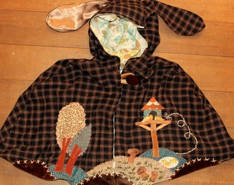 turtle doves bunny ear cape womens size 12uk