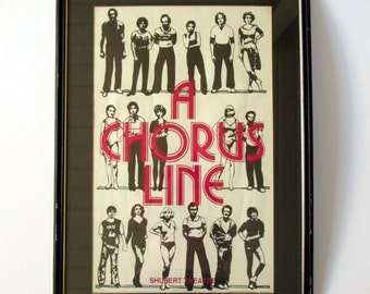 A Chorus Line Shubert Theatre Print - 1977 First Edition