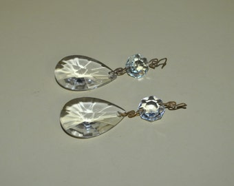 2 Small Teardrop Pendalogue Prisms 1 1/2""