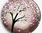 Needle Minder, Licensed Art By In Love Helen Jano Miqueo, Cherry Blossom, Cross Stitch Keeper - Fridge Magnet