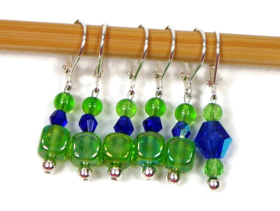 Knitting Markers Homemade : Locking removable stitch markers crochet beaded by tjbdesigns