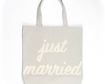 Just Married Everyday Tote Bag