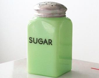 McKee Jadite Jadeite Square Sugar Shaker