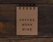 Mini Coffee Work Wine Jotter