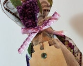 Grapes Wine Bag,White Wine, Red Wine, Bottle Bag, Gift Bag, Special Occasion