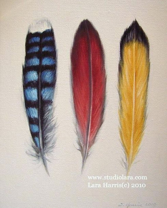 CUSTOM Build Your Own Feather Painting in OIL by LARA 11x14