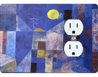 Paul Klee Moonlight Painting Duplex Outlet Plate Cover
