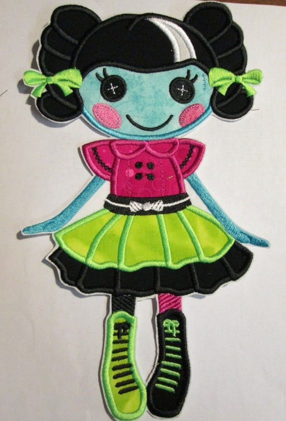 Vampire or Halloween Doll - Iron On or Sew On Embroidered Custom Made Applique