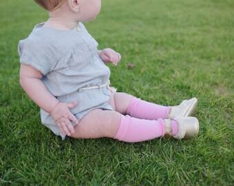 Pink Knee High Socks, Liggings, Tights for baby girl