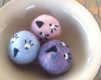 Felted Wool Dryer Balls Little Birds