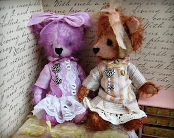 "OOAK Collectible Miniature Artist Mohair Bear - ""Tildie"" -  5-6"" - Reddish Brown German Mohair"