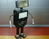 SIMPSON 4 Found Object  Robot Sculpture Assemblage Metal Recycled Repurposed