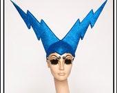 David Bolty… Lightning Bolt Hat in Blue Glitter