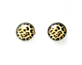 Cheetah Print 12mm Stud Earrings