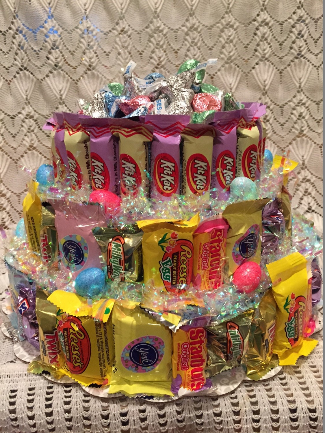 Easter Three Tier Candy Bar Cake Easter Candy Cake Easter