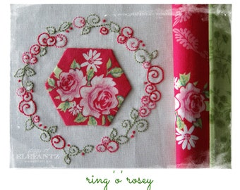 Ring O Rosey - stitchery pattern