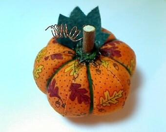 Size 1  Orange Pumpkin   Halloween   Thanksgiving   Fall Decor   Holidays   Handmade   Fabric Pumpkin   Pin Cushion   Table Decoration #3